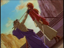 That's not a good fighting position, Kenshin.