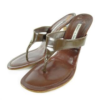 Manolo Blahnik Thong Heels