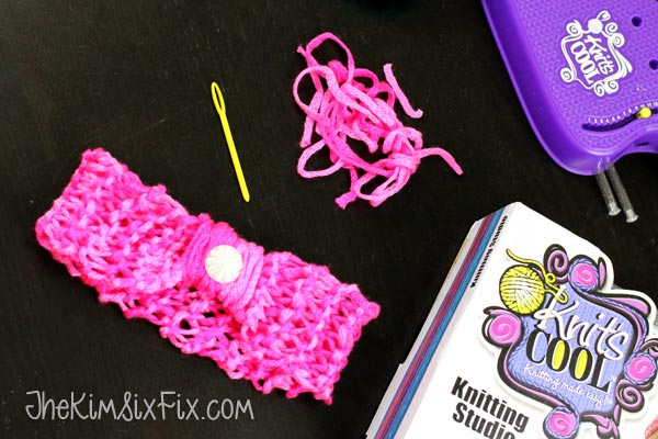 Kids diy knit headband