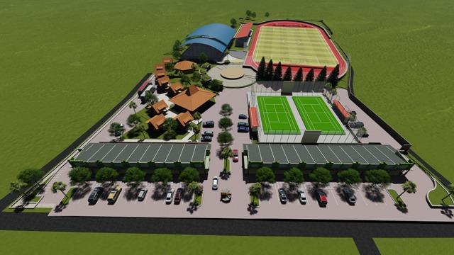 Caturharjo Sport Center Tampak Depan