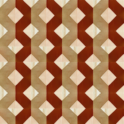 Double accordion quilt