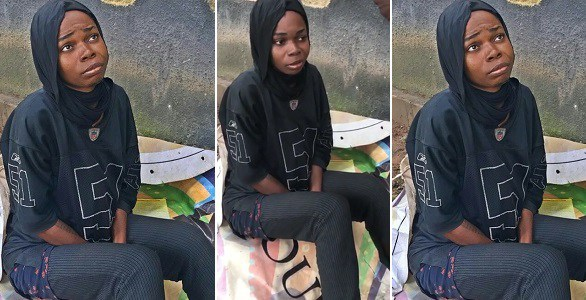 Beautiful young Nigerian lady goes crazy shortly After Completing her NYSC, Sleeps Behind Fela Shrine in Lagos (Photos)