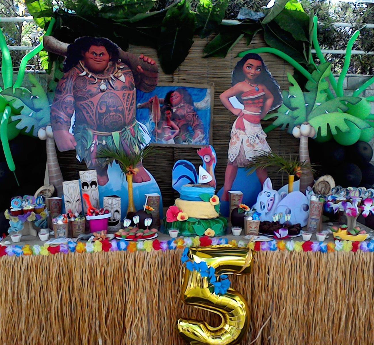 Fiesta temática de Moana Cumpleaños de Erika