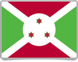 Burundian framed flag icons with box shadow