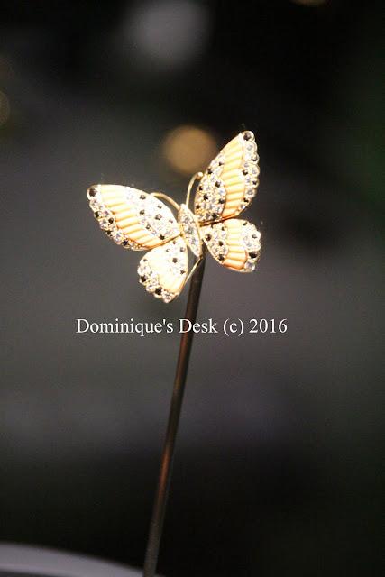 A butterfly broach