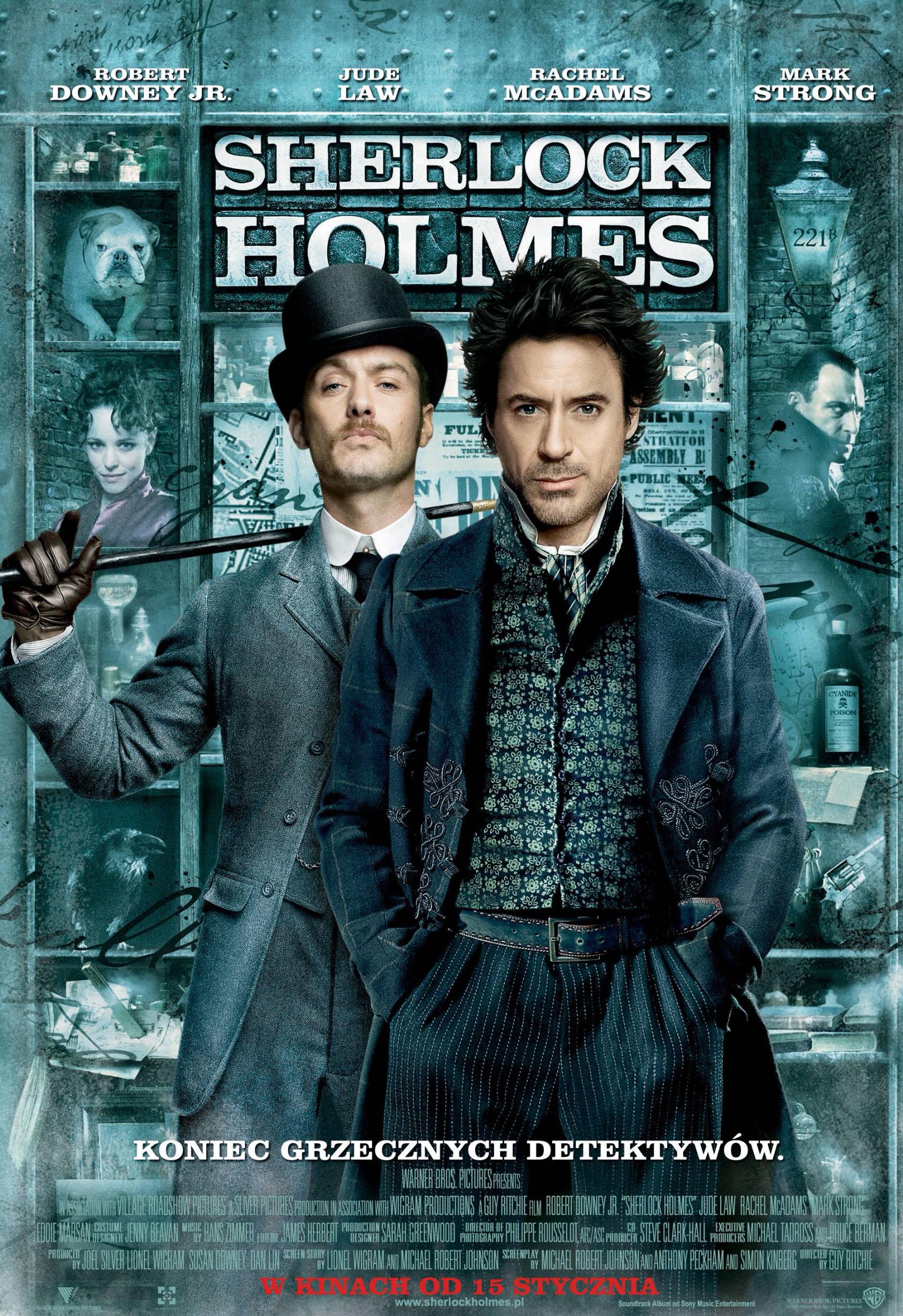 Polski plakat filmu 'Sherlock Holmes'