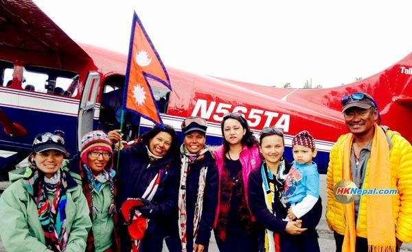 नेपाली महिला आरोहण दलद्वारा अमेरिकाको देनाली हिमालको सफल आरोहण