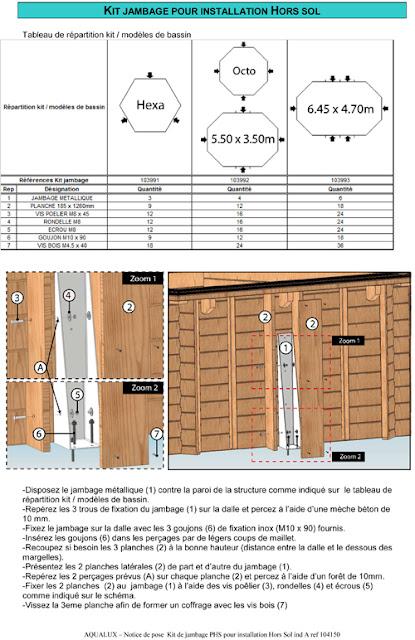 Piscine hors sol bois hexagonale 4 22m x 1 24m for Piscine 25m prix