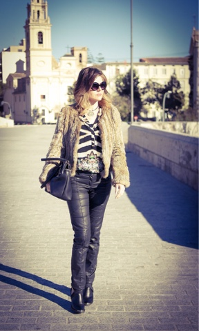 Casual Chic con animal print.