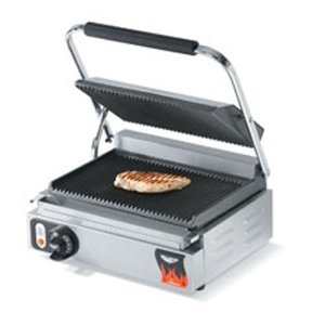 Vollrath 40794 Italian Panini Sandwich Press, Grooved 10 x 15 in Grill, 120V