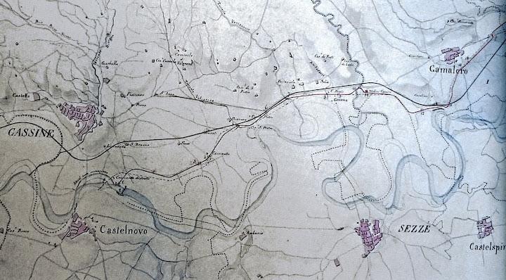 Il canale tra Castelnovo e Gamalero - 14 aprile 1843