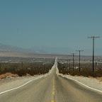 De weg is eindeloos richting Phoenix