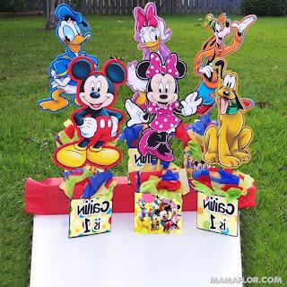 Centros de mesa de los personajes de Disney