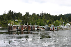 View of the ferry dock on Saltspring Island