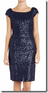 Lauren Ralph Lauren cap sleeve stretch sequin dress