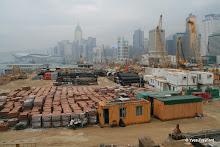 Entre Star Ferry Pier et Central : chantier