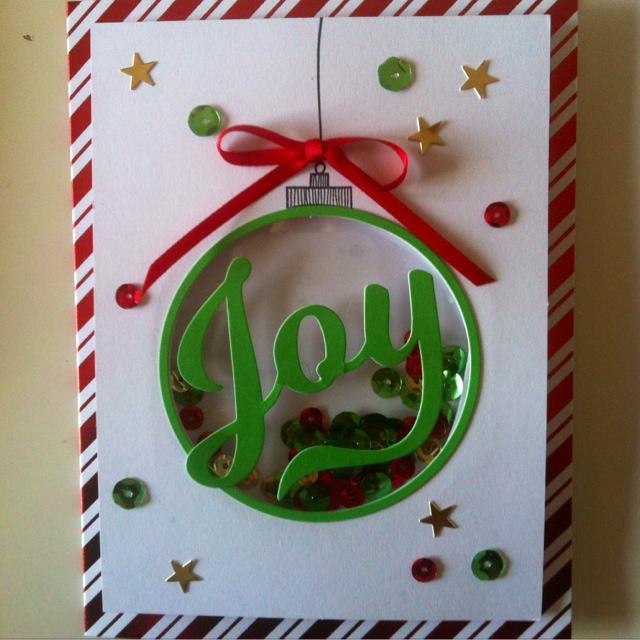 Karte, Schüttelkarte Kugel,Stampin Up, Weihnachtskarte, Shaker Card, Loewchenzimmer, Löwchenzimmer