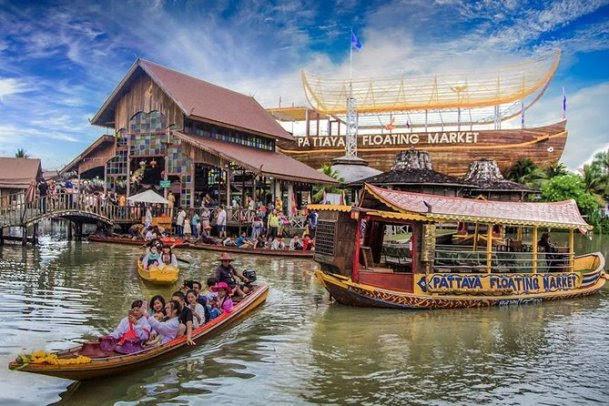 Mercado flutuante - Pattaya