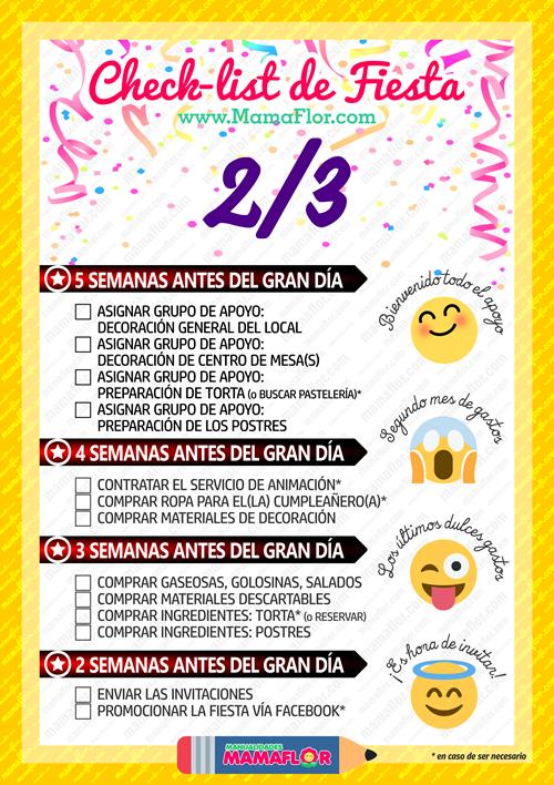 Checklist: Lista para Organizar Fiesta Cumpleaños