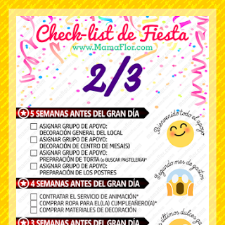 Check List: Organizar Fiesta de Cumpleaños (Página 2)