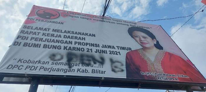 Geram Baliho Puan Maharani Ditulisi 'OPEN BO', DPP PDIP Bakal Lapor Polisi