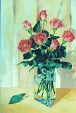 róże, olej, płótno, 50x70cm