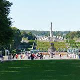 Uitzicht op de Monoliet in Vigelandsparken