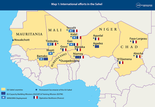 Africa Sahel Europe Battle field for Supremacy- Intercommunal Conflict in Mali has spilled over into neighbouring Burkina Faso and Niger