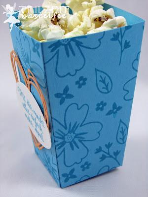 Stampin' Up! Thinlits Popcorn-Schachtel, Popcorn Box, Für Lieblingsmenschen, Love&Affection, Thinlits Grüße voller Sonnenschein, Sunshine Wishes Thinlits
