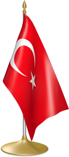 Turkish table flags - desk flags