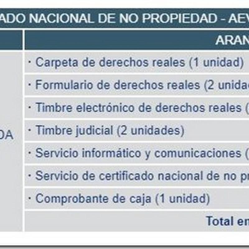 """Bolivia: Requisitos y costos para obtener el """"Certificado Nacional De No Propiedad - AEVIVIENDA"""" en Derechos Reales"""