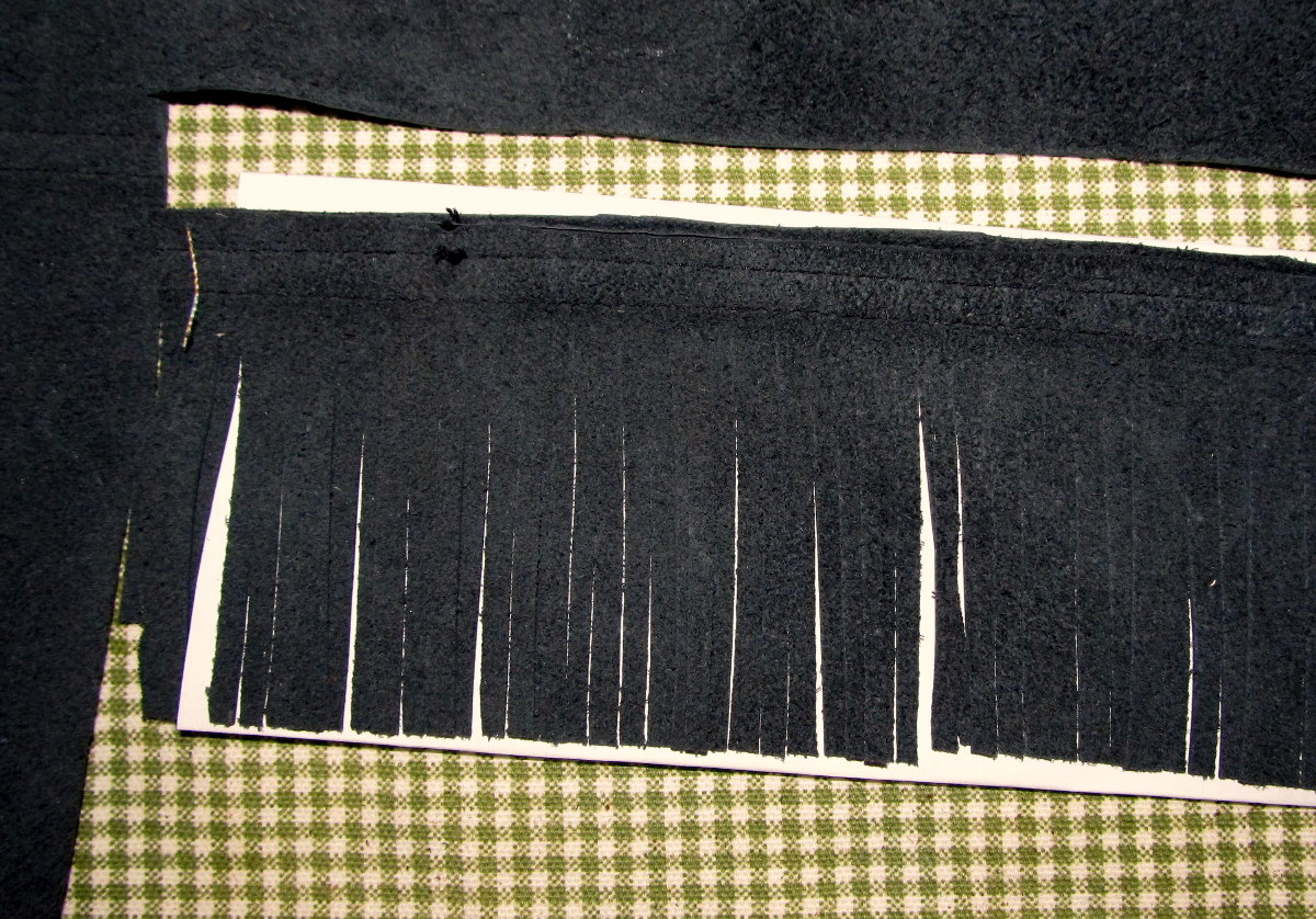 edge like a sleeve or the bottom of the shirt that has a hem in it