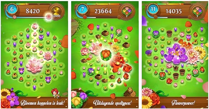 Screenshot Blossom Blast Saga App voor Android, iPhone en iPad