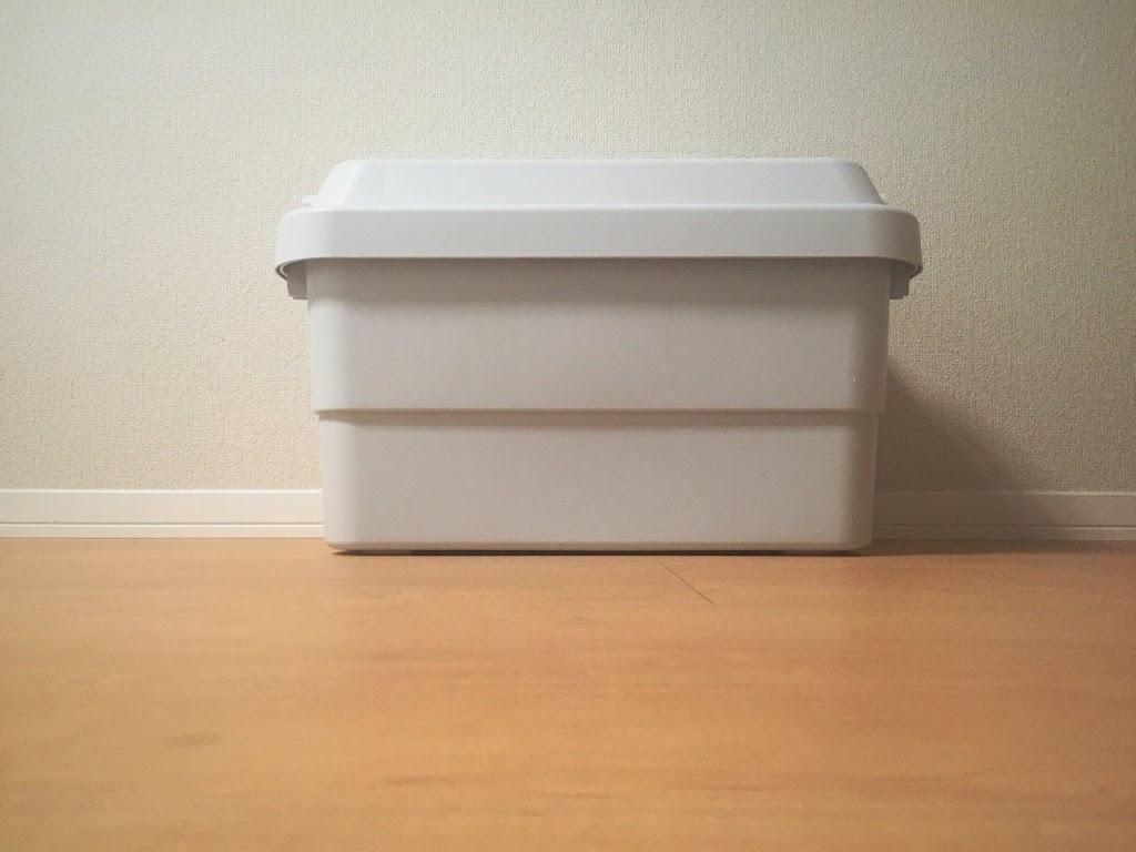 FOUND MUJI のボックスをいくつか、お買い物したいなと検討中。  PP通函(かよいばこ)が、ちょうど靴箱の奥行きにぴったりなので、きれいにおさまりそう。