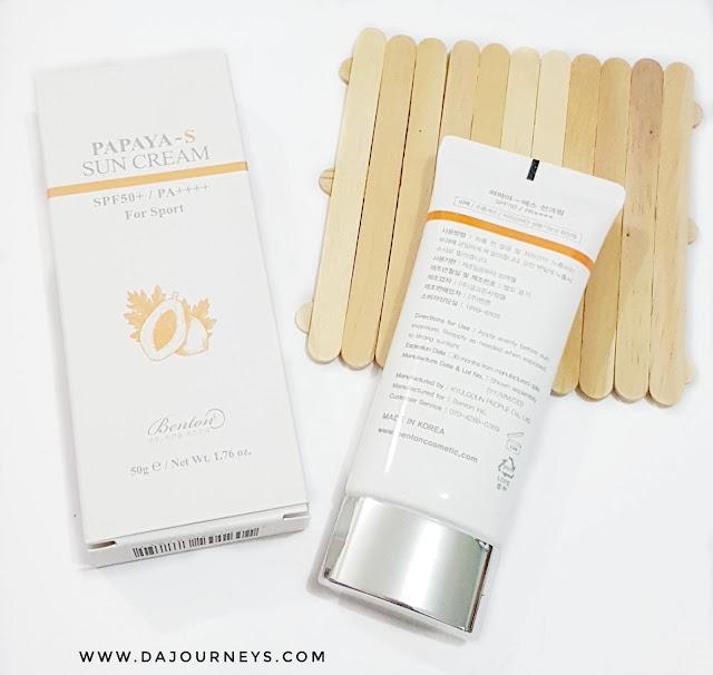 Review Benton Papaya-S Sun Cream