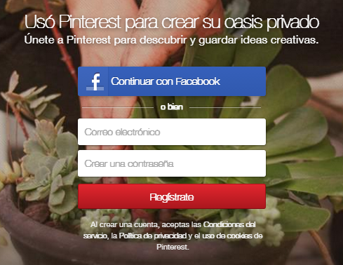 How to create a personal account on Pinterest - Extranet