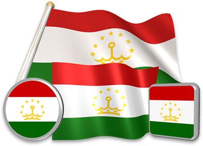 Tajikistani flag animated gif collection