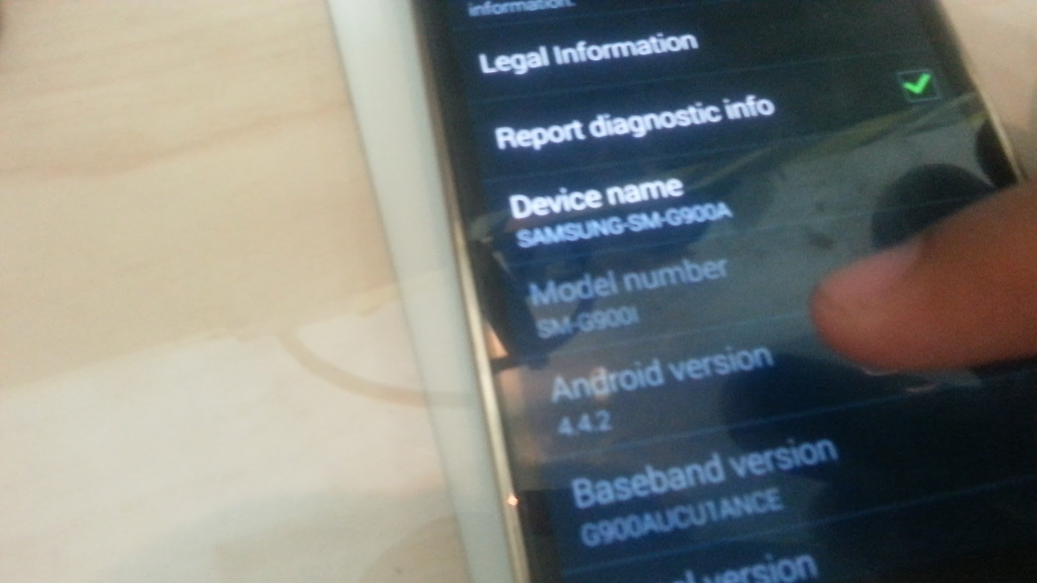Image of Arabic Firmware Update for Samsung Galaxy S5 G900A AT&T Sample Image 2