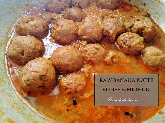 raw banana kofte recipe