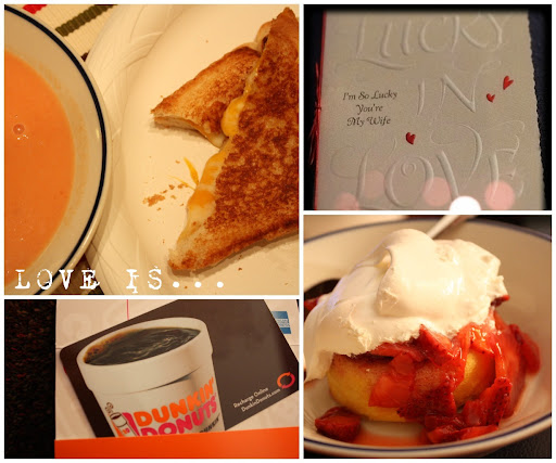 (February 14) LOVE IS... comfort food, heartfelt sentiments, a little treat, and something sweet.
