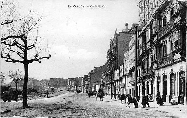 1911. Calle Garás. Actual Avda. de Linares Rivas