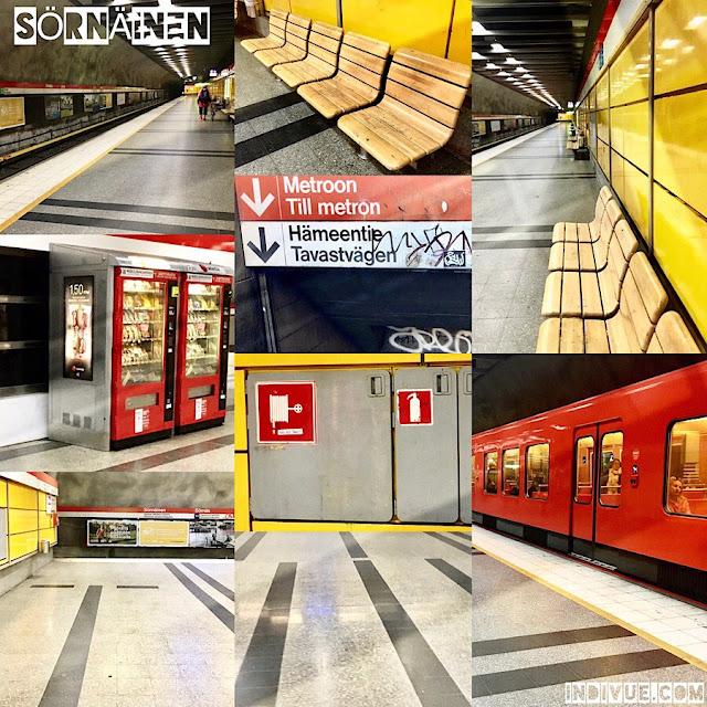 Sörnäisten metroasema -kollaasi