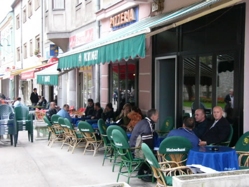 Bihac -     Cafes along the main street