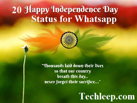 Independence Day Status for Whatsapp