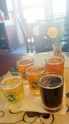 On the way to Taos, we pulled over to try Blue Heron Brewing. We shared a beer tasting tray
