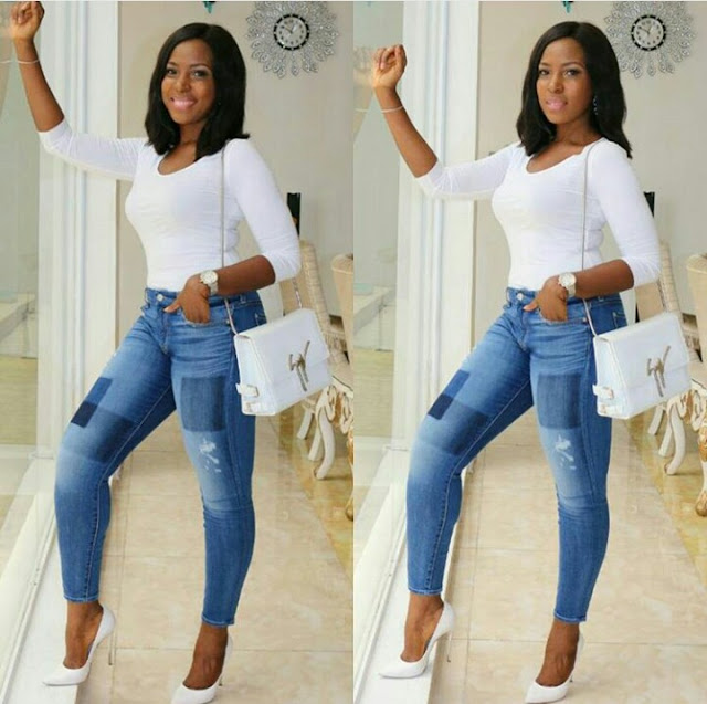 Popular Blogger Linda Ikeji Shares her Throwback Photo Since 1987