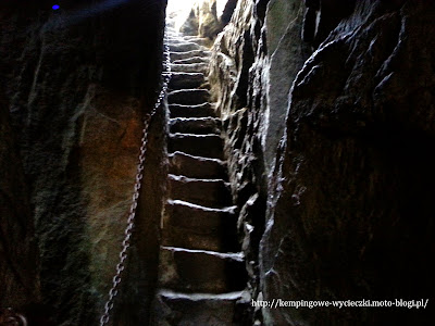 schody na Szczelińcu Wielkim