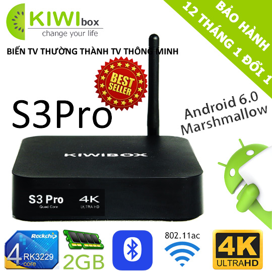 android tv box kiwi s3pro