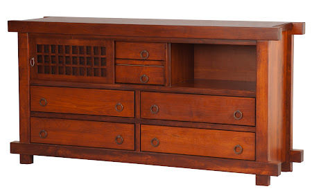 "70"" x 36"" Tansu Horizontal Dresser in Iconic Maple"