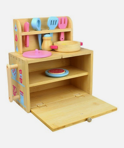 Boxset Kitchen wooden kitchen travel toy